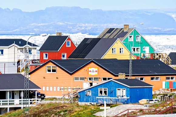 The colorful buildings of Ilulissat Greenland architecture