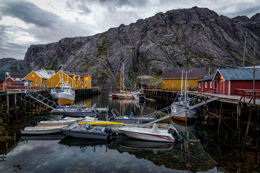 The Nusfjord harbor