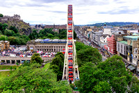 Edinburgh Festival Wheel scotland panorama