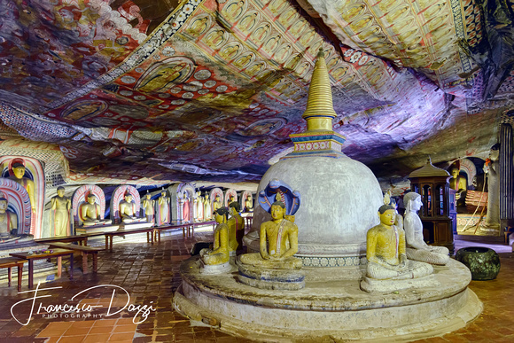 Cave of the Great Kings in Dambulla cave temple Sri Lanka