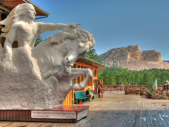 Scale Model of Crazy Horse 1:34 Size