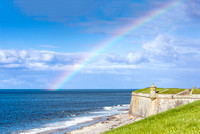 Rainbow over Fort George scotland inverness highlands landscape