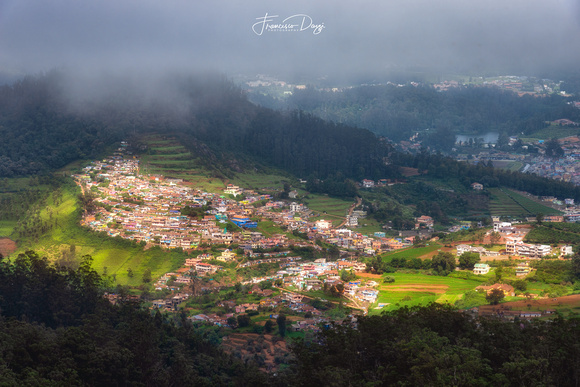 View of Ooty from Doddabetta View Point