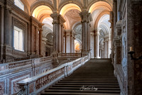 The Main Staircase in Royal Palace of Caserta italy