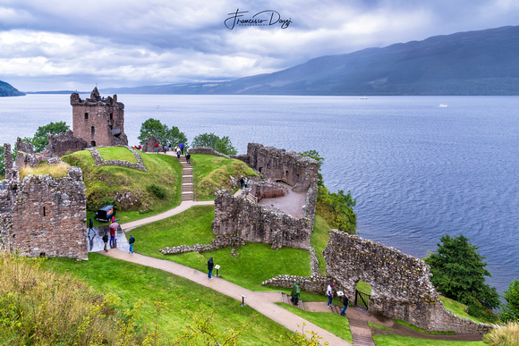 Urquhart Castle and Loch Ness Scotland landscape