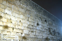 The Western Wall at Night