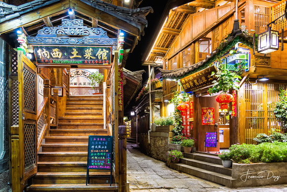 Traditional Naxi restaurants in Lijiang Old Town