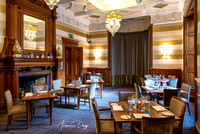 Dining room at Ardoe House Hotel in Aberdeen castle interior Aberdeen