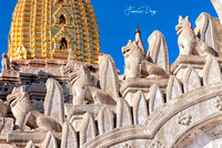 Details of Ananda Temple in Bagan Myanmar burma gold