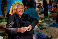 Elder Pa'o woman at the Phaung Daw Oo market Myanmar Burma