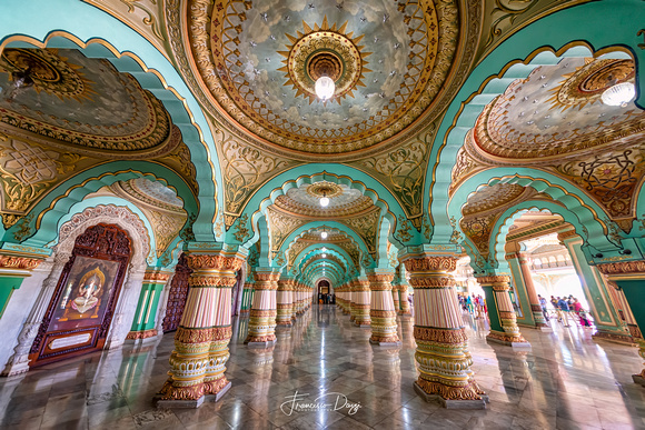 Audience Hall in Mysore Palace India architecture interior