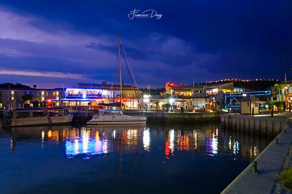 The Knysna Waterfront at Dusk