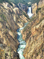 Grand Canyon of the Yellowstone - Lower Falls