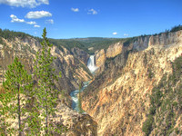 Grand Canyon of the Yellowstone - Lower Falls from Artist Point