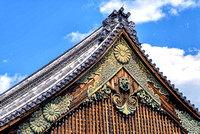 Ninomaru Palace rooftop at Kyoto Nijo Castle architecture