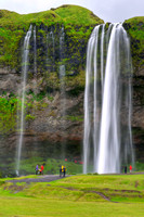 cascade, cliff, fall, falling, falls, cascade, cliff, erosion, foss, geology, grass, green, high, iceland, jump, landmark, landscape, mist, nature, seljalandsfoss, stream, vertical, waterfall