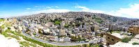 Panoramic view of Al Yarmouk district in Amman jordan landscape panoramic scenic panorama