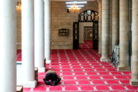 A man praying in the Al Husseini Mosque Amman Jordan islam muslim faith