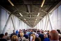 Queue line for south gate Merlata at EXPO Milan 2015