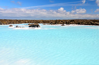 Geothermal water pool near Blue Lagoon spa iceland