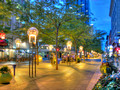 16th Street Mall denver colorado promenade dusk