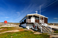 The church (and school) of Rodebay greenland landscape scenic architecture