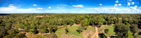 Panoramic view of cambodian jungle from Koh Ker temple top