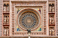 The Orvieto Cathedral central rose window Italy architecture