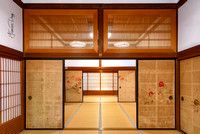 Fukuchi-in Temple lodging interior traditional japanese architecture