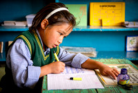 Young tibetan student in Leh's SOS Children's Village Ladakh girl