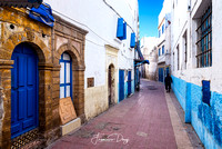 In the street of Essaouira Morocco blue
