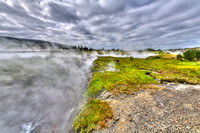 Hotspring Deildartunguhver geology vapor hot scenic warm steam hot iceland