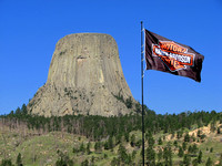 The Worlds largest Harley Davidson flag at Devils Tower Trading Post