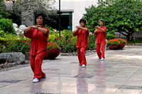 Tai Chi Exercising in the morning in Beijin