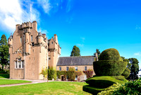 Crathes Castle scotland architecture medieval fort garden