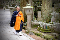 Shingon Monk in Okunoin Cemetery at Kōya-san Japan buddhims