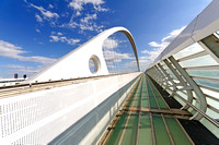 The central arch of Calatrava bridge reggio emilia