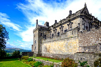 Queen Anne garden and Royal Palace at Stirling castle scotland