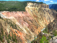 Grand Canyon of the Yellowstone - Painted Walls
