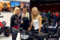 Models at EICMA 2011 in Milan