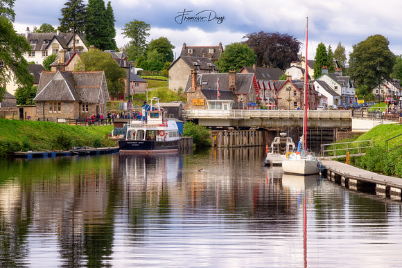 Caledonian Canal in Fort Augustus Scotand