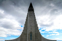 Hallgrimskirkja parish church in Reykjavik Iceland architecture