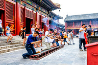 Worshippers at the Yonghe Temple people buddhism china