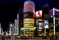Ginza by night Tokyo Japan