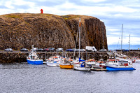 The port of Stykkisholmur Iceland village