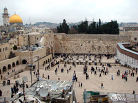 The Western Wall Plaza from above