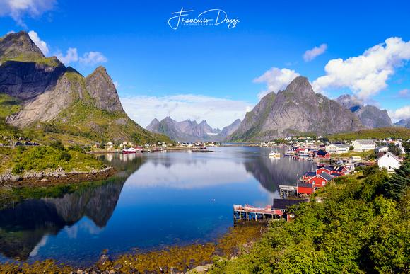 The fishing village of Reine Norway Landscape