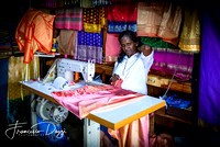 Seamstress in Kandy central market woman Sri Lanka