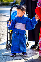 Little japanese boy with traditional kimono Kyoto kid
