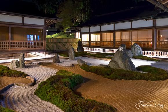 The rock garden of Fukuchiin ryokan zen Japan
